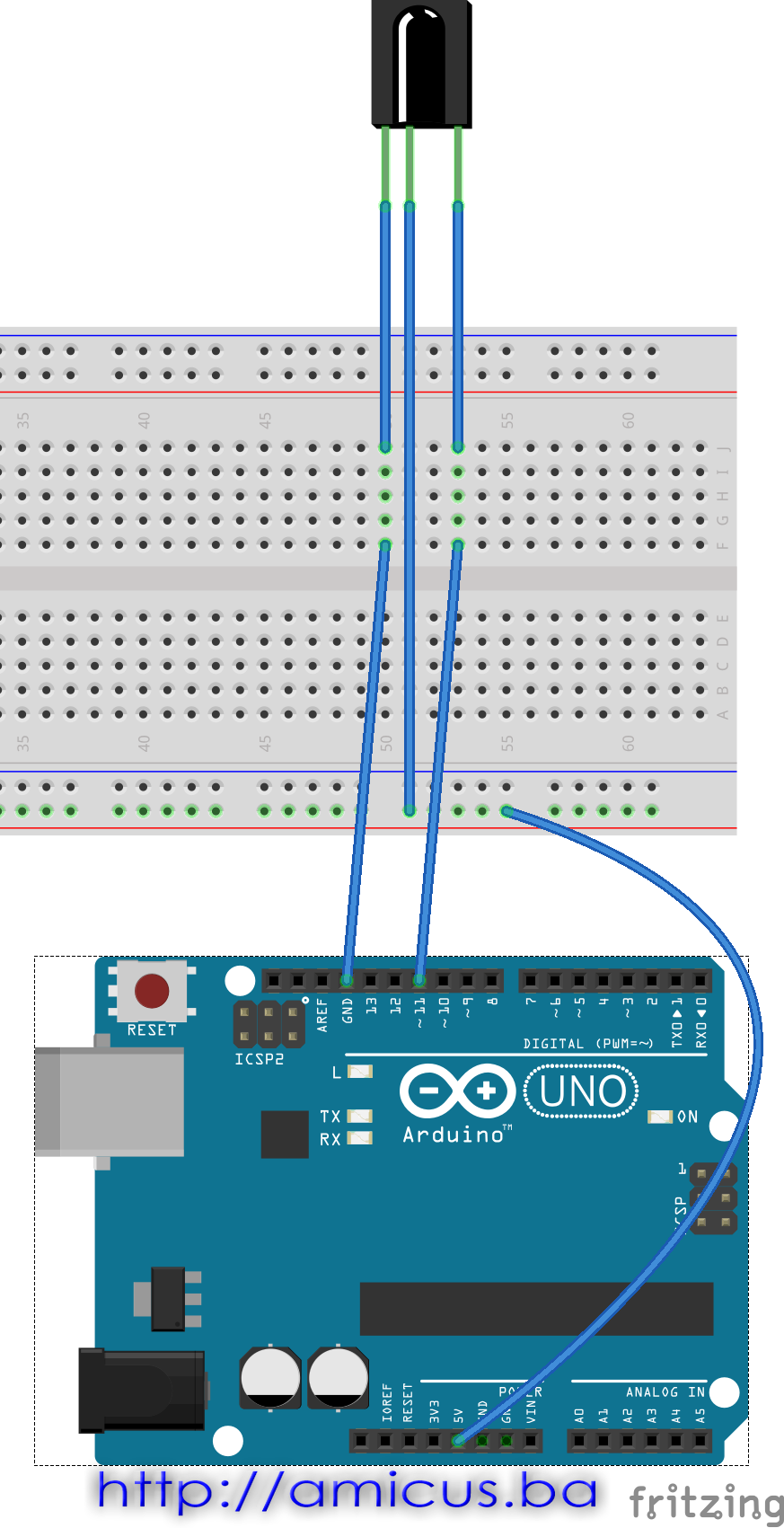 IR remote - breadboard