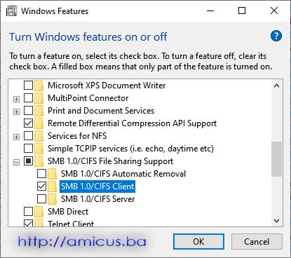 SMB 1.0 CIFS client