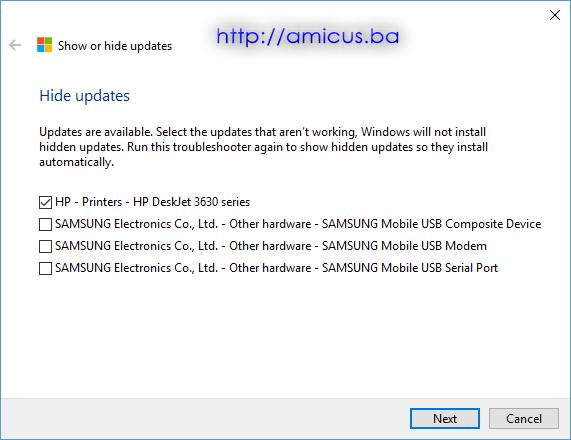Sakrij ili prikaži update-a 4