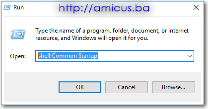 Win10 Common Startup