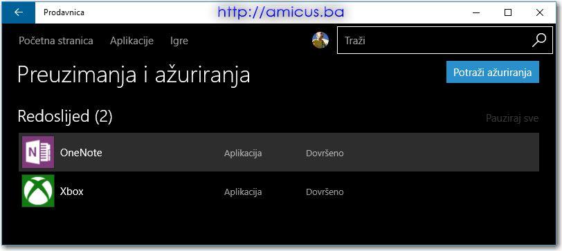 Windows store - dark theme