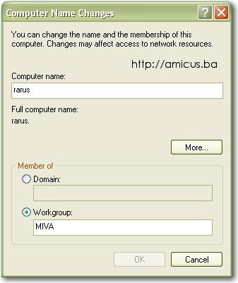 Zamjena imena računara